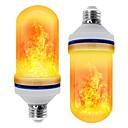 ราคาถูก หลอดไฟ-led e26 e27 majsljus flamma effekt led pärlor smd 2835 simulerad natur eld ljus majslökor flamma flimrande juldekoration rohs 2st