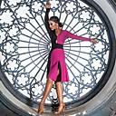povoljno Odjeća za latino plesove-Latino ples Haljine Žene Seksi blagdanski kostimi Spandex Nabori / Kombinacija materijala Dugih rukava Haljina