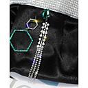 povoljno Modne naušnice-Žene Nesparene naušnice Long Jedinstven dizajn Imitacija dijamanta Naušnice Jewelry Pink Za Vjenčanje Dar Maškare Izlasci Klub 1 par