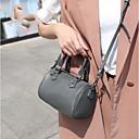 ราคาถูก กระเป๋า Totes-สำหรับผู้หญิง ซิป หนังวัว กรเป๋าหิ้ว สีดำ / สีเทา