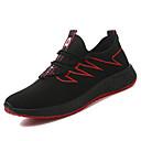 זול נעלי ספורט לגברים-בגדי ריקוד גברים נעלי נוחות PU אביב נעלי אתלטיקה הליכה לבן / שחור / שחור אדום