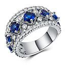 ราคาถูก แหวน-สำหรับผู้หญิง วงแหวน แหวน Eternity Cubic Zirconia 1pc ขาว ทองแดง Geometric Shape Stylish ความหรูหรา เกี่ยวกับยุโรป ของขวัญ เดท เครื่องประดับ เท่ห์