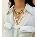 povoljno Ogrlice-Žene Ogrlice s privjeskom Ogrlica slojeviti Ogrlice Aluminijum Krom Zlato Pink 40 cm Ogrlice Jewelry 1pc Za Vjenčanje Dar Dnevno Svečanost Spoj