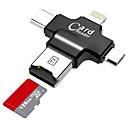 baratos Frascos e Caixas-LITBest MicroSD / MicroSDHC / MicroSDXC / TF USB 2.0 / micro USB / Iluminação Leitor de cartão Celulares Android / Computador / Para iPhone