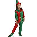 ราคาถูก ของชำร่วยงานแต่งใช้ได้จริง-Santa Suits คอสเพลย์และคอสตูม สำหรับเด็ก เด็กผู้ชาย วันฮาโลวีน คริสมาสต์ วันคริสต์มาส วันฮาโลวีน เทศกาลคานาวาล Festival / Holiday Polyster สายรุ้ง ชุดเทศกาลคานาวาว ลายต่อ