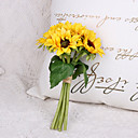 Χαμηλού Κόστους Ψεύτικα Λουλούδια-Ψεύτικα λουλούδια 6 Κλαδί Κλασσικό Στυλάτο Ευρωπαϊκό Ηλιοτρόπια Λουλούδι για Τραπέζι
