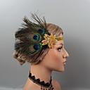 ราคาถูก สร้อยคอ-ขนนก headbands / เครื่องสวมศรีษะ / เครื่องประดับศรีษะ กับ หินประกาย / คริสตัล / ขนนก 1 ชิ้น งานแต่งงาน / งานปาร์ตี้ / งานราตรี หูฟัง