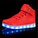 זול LED Shoes-בנים / בנות נעליים זוהרות PU נעלי ספורט פעוט (9m-4ys) / ילדים קטנים (4-7) / ילדים גדולים (7 שנים +) LED לבן / שחור / אדום אביב / גומי