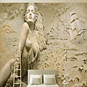billige Veggklistremerker-bakgrunns / Veggmaleri / Wall Cloth Lerret Tapetsering - selvklebende nødvendig Trær / Blader / Art Deco / 3D