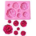 billiga Frukt och grönsakstillbehör-rosa blommor formad fondant silikon mögel hantverk choklad bakning mögel