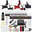 billiga professionella tattoo kit-DRAGONHAWK Tattoo Machine Startkit - 2 pcs Tatueringsmaskiner med 1 x 30 ml / 28 x 5 ml tatueringsfärger, professionell nivå, Allt-i-ett, Enkel att sätta på Legering Mini strömförsörjning No case 2 x