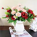 povoljno Umjetno cvijeće-Umjetna Cvijeće 1 Podružnica Za jednu osobu Suvremena suvremena Pastoral Style Peonies Karanfil Cvjeće za stol