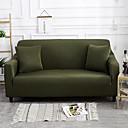 baratos Cobertura de Sofa-tampa do sofá alta stretch verde escuro combinatorial macio elástico poliéster slipcovers