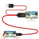 billiga USB-mhl kabel micro usb 2.0 till hdmi 1.4 adapterkabel manlig - man 1,8m (6ft)