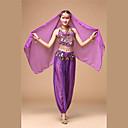 Χαμηλού Κόστους Εξτένσιος μαλλιών με φυσικό χρώμα-Ινδικό κορίτσι Bollywood Ενηλίκων Γυναικεία Ασιατικό Πούλιες Churidar Salwar Suit Σάρι Για Επίδοση Φεστιβάλ Πούλια Πολυεστέρας Κορυφή Παντελόνια Τεμάχια Κεφαλής