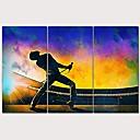 baratos Impressões-Estampado Estampados de Lonas Esticada - Pessoas Modern 3 Painéis Art Prints