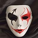 billiga Hundkläder-Vit mask Halloween-mask Inspirerad av Melbourne Shuffle Dance Svart Vit Halloween Halloween Maskerad Vuxna Herr Dam