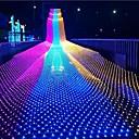 baratos Focos-1,5 m * 1,5 m Cordões de Luzes 96 LEDs Branco Quente / Branco Frio / Multicolorido Impermeável / Festa / Decoração do casamento de Natal 220-240 V 1conjunto
