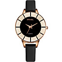 ราคาถูก ตุ้มหู-สำหรับผู้หญิง นาฬิกาตกแต่งข้อมือ นาฬิกาอิเล็กทรอนิกส์ (Quartz) หนังแท้ ดำ กันน้ำ ระบบอนาล็อก ไม่เป็นทางการ แฟชั่น - สีเงิน สีน้ำตาล Rose Gold