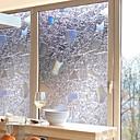 billige Veggklistremerker-Vindufilm og klistremerker Dekorasjon Moderne / 3D Geometrisk PVC Vindusklistremerke / Anti-refleksjon
