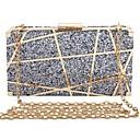 זול תיקי ערב וקלאצ'ים-בגדי ריקוד נשים נצנוץ / פתחים סגסוגת תיק ערב תבנית גאומטרית כסף / אודם / כחול נייבי / סתיו חורף