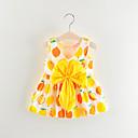 Χαμηλού Κόστους Φορέματα για κορίτσια-Μωρό Κοριτσίστικα Βασικό Φρούτα Αμάνικο Πάνω από το Γόνατο Βαμβάκι Φόρεμα Κίτρινο / Νήπιο