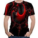 voordelige Hondenkleding-Heren T-shirt 3D Ronde hals Rood