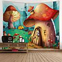 billige Wall Tapestries-Hage Tema / Eventyr Tema Veggdekor 100% Polyester Moderne Veggkunst, Veggtepper Dekorasjon