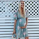 Χαμηλού Κόστους Γυναικεία Σουτιέν-Γυναικεία Λεπτό Γραμμή Α Φόρεμα Πάνω από το Γόνατο Λαιμόκοψη V