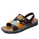 ราคาถูก รองเท้าแตะผู้ชาย-สำหรับผู้ชาย รองเท้าสบาย ๆ พีวีซี ฤดูร้อน รองเท้าแตะ สีน้ำตาลอ่อน / น้ำตาลเข้ม