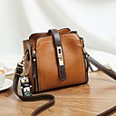 cheap Crossbody Bags-Women's Bear PU Crossbody Bag Solid Color Black / Brown / Red / Fall & Winter