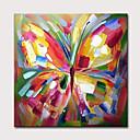 baratos Pinturas Animais-Pintura a Óleo Pintados à mão - Abstrato Arte Pop Clássico Modern Incluir moldura interna