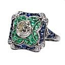 Χαμηλού Κόστους Μοδάτο Δαχτυλίδι-Γυναικεία Δαχτυλίδι αρραβώνων δαχτυλίδι αντίχειρα 1pc Πράσινο Ανοικτό Κράμα Elizabeth Locke Γενέθλια Δώρο Κοσμήματα Τεχνίτης Lovely