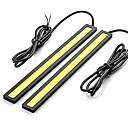 billige Kjørelys-2pcs Wire-tilkobling Bil Elpærer 12 W COB 600 lm LED Dagkjøringslys Til Universell Alle år