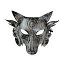 baratos Trajes da Noite das Bruxas-Fantasias de Cosplay Máscara Máscara de Halloween Inspirado por Warewolf Dourado Prata Dia Das Bruxas Dia Das Bruxas Baile de Máscaras Adulto Homens Mulheres