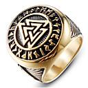 povoljno Muško prstenje-Muškarci Prsten Pečatni prsten 1pc Zlato Srebro Titanium Steel Krug Moda Vojni škotski Dar Dnevno Jewelry Retro Graviranog Prsteni srednje škole klasa magija Cool