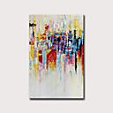 baratos Pinturas Abstratas-Pintura a Óleo Pintados à mão - Abstrato Vintage Modern Sem armação interna