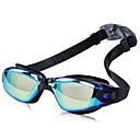 זול Swim Goggles-משקפי שחייה עמיד למים נגד ערפל שרף סיליקוןריצה PC שחור כחול ורוד בהיר אפור בהיר