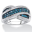 Χαμηλού Κόστους Χαραγμένο Δαχτυλίδια-Γυναικεία Δακτύλιος Δήλωσης Δαχτυλίδι Cubic Zirconia 1pc Μπλε Χαλκός Geometric Shape Μοντέρνο Στυλάτο Πολυτέλεια Γάμου Πάρτι Κοσμήματα Πεπαλαιωμένο Στυλ Υδροχόος Απίθανο