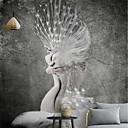 povoljno Zidne tapete-tapeta / Mural / Zidna tkanina Platno Zidnih obloga - Ljepila potrebna Cvjetni print / Art Deco / 3D