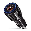 billiga Ryggsäckar och väskor-snabb billaddare qc 3.0-adapter 9v / 3.1a dual usb-port blått ljus kompatibelt med ios och Android-smartphone
