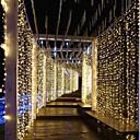 Χαμηλού Κόστους LED Φωτολωρίδες-3m * 3m 300 leds κουρτίνα φως κουρτίνα οδήγησε whitewarm λευκό συμβαλλόμενο μέρος διακοσμητικό συνδέσιμο 110-120 v 1pc