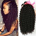 billiga Äkta peruker med hätta-4 paket Brasilianskt hår Kinky Curly 100% Remy Hair Weave Bundles Huvudbonad Human Hår vävar bunt hår 8-28 tum Naurlig färg Hårförlängning av äkta hår Luktfri Silkig Till färgade kvinnor Människohår