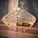 cheap Party Headpieces-Alloy Tiaras with Sparkling Glitter 1 Piece Wedding / Special Occasion Headpiece