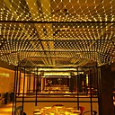 baratos Acessórios de Festa-6 m * 4 m 672 leds luzes líquidas luzes de cortina whitewarm whitebluemulti cor partido decorativo linkable 220-240 v 1 pc