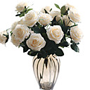 זול פרחים מלאכותיים-פרחים מלאכותיים 1 ענף קלאסי חתונה פרחי חתונה ורדים פרחים נצחיים פרחים לשולחן
