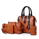 Χαμηλού Κόστους Σετ τσάντες-Γυναικεία Φούντα PU Σετ τσάντα Τσάντα Σετ Συμπαγές Χρώμα 4 σετ Σετ τσαντών Μαύρο / Καφέ / Ανθισμένο Ροζ / Φθινόπωρο & Χειμώνας