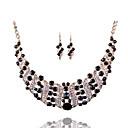 Χαμηλού Κόστους Μοδάτο Κολιέ-Γυναικεία Κρυστάλλινο Κρεμαστά Σκουλαρίκια Κοσμήματα κολιέ Ρετρό Πολυτέλεια Βίντατζ Κομψό Προσομειωμένο διαμάντι Σκουλαρίκια Κοσμήματα Κόκκινο / Μπλε / Ανοικτό Καφέ Για Πάρτι Γαμήλια Τελετή Φεστιβάλ