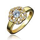 billige Fuskediamant-Dame Ring Kubisk Zirkonium 1pc Gull Sølv 18K Gullbelagt Fuskediamant Stilfull Luksus Romantikk Fest Engasjement Smykker Klassisk Blomst Smuk