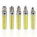 Χαμηλού Κόστους Λάμπες Καλαμπόκι LED-1pc 5 W LED Λάμπες Καλαμπόκι 1000-1200 lm E14 E12 E17 T 152 LED χάντρες SMD 5730 Με ροοστάτη Θερμό Λευκό Ψυχρό Λευκό 220-240 V 110-130 V